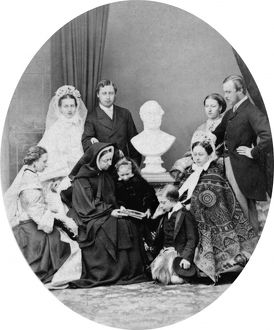 Queen Victoria and her family.