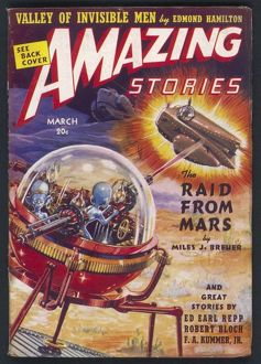 The Raid from Mars, Amazing Stories SciFi Magazine Cover