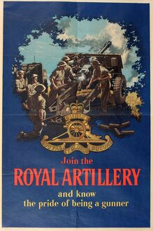 recruitment poster join royal artillery