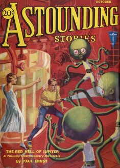 Red Hell of Jupiter, Astounding Stories Scifi magazine cover