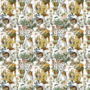 Repeating Pattern - Alice in Wonderland characters
