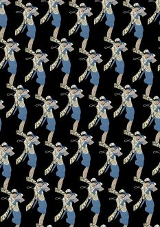 Repeating Pattern - Art Deco Woman