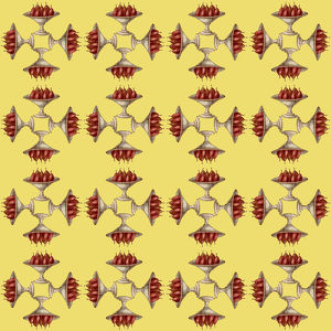 Repeating Pattern - Bowl of Pears - mirrored (yellow)