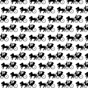 Repeating Pattern - Coach and Horses