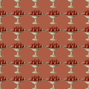 Repeating Pattern - Compote of Pears (red background)
