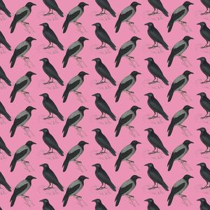 Repeating Pattern - Crows and Jackdaws