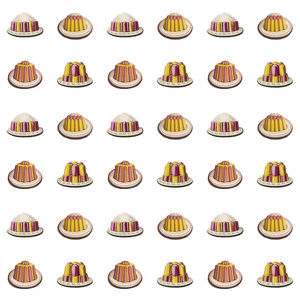 Repeating Pattern - Desserts on white background
