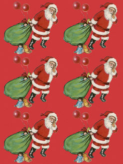 Repeating Pattern - Father Christmas with Sack
