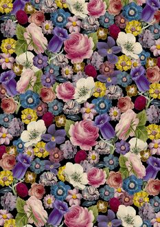 Repeating Pattern - Floral Assemblage of flowers
