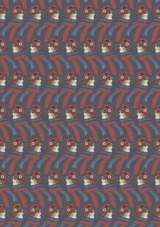 Repeating Pattern - French girl in Tricolore scarf / hat