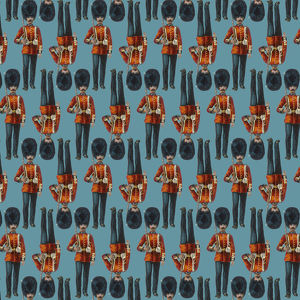 Repeating Pattern - guardsmen, blue