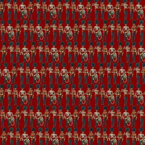 Repeating Pattern - guardsmen, red