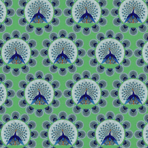 Repeating Pattern - peacocks, green