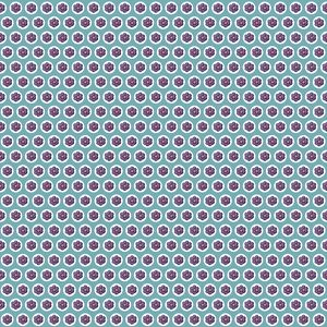 Repeating Pattern - Purple Flowers - Circles