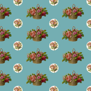 Repeating Pattern - Roses in a Basket