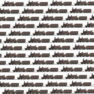 Repeating Pattern - Steam Engine trains