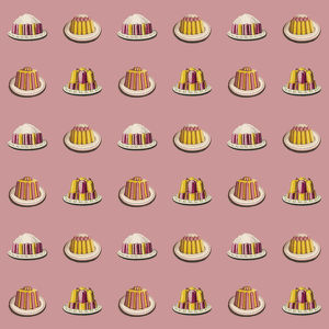 Repeating Pattern - Variety of dessert dishes