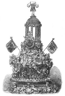 Royal wedding 1863 - a cake of colossal proportions