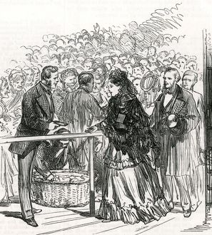 Royal Wedding 1874 - distribution of bridal cake