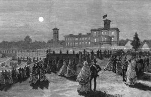 Royal Wedding 1885 -- grounds of Osborne House, evening