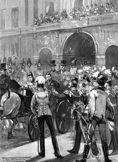 Royal wedding 1893 - the departure