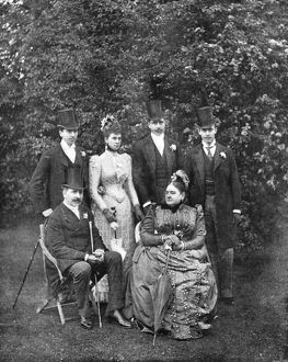 Royal wedding 1893 - Duke and Duchess of Teck and family