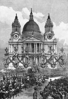 Royal wedding 1893 - the procession passed St. Paul's