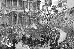 Royal wedding 1893 - procession passed St Paul's