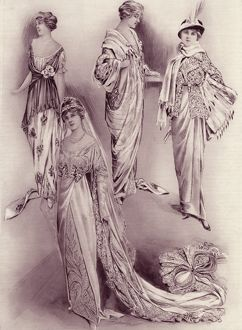 Royal Wedding 1913 -- Connaught Fife -- four dresses