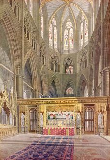 Royal Wedding 1923 - the altar at the Abbey