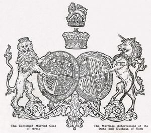 Royal Wedding 1923 - coat of arms