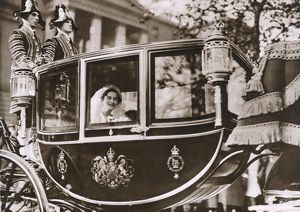 Royal Wedding 1935 - Bride on her way to Buckingham Palace