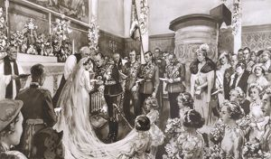 Royal Wedding 1935 - in the Chapel at Buckingham Palace