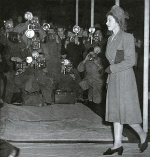 Royal Wedding 1947. Princess Elizabeth arrives for rehearsal