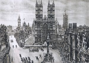 Royal Wedding 1947. The Scene at Westminster