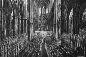 Royal Wedding 1947 - service in Westminster Abbey