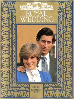 Royal Wedding 1981 - ILN front cover
