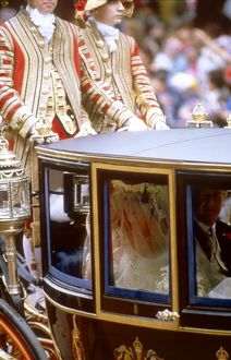 Royal Wedding 1986 - the bride on her way to the Abbey