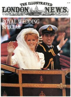 Royal Wedding 1986 - ILN front cover