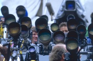 Royal Wedding 1986 - lenses poised