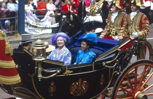 Royal Wedding 1986 - Queen Mother and Princess Margaret
