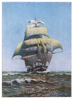 SAILING SHIP, FULL SAIL