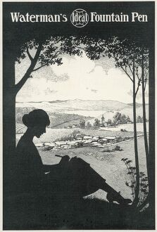 SILHOUETTE/WOMAN WRITES