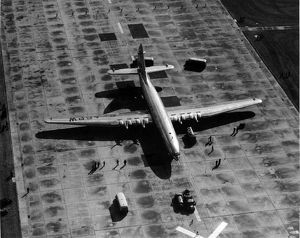 The sole Bristol Brabazon G-AGPW at London Airport in 1950