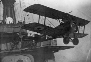 A Sopwith Pup of the RNAS taking-off
