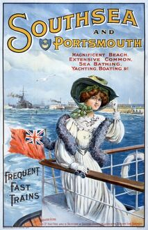 Southsea travel poster