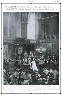 The Sphere Royal Marriage Number 1923- wedding ceremony