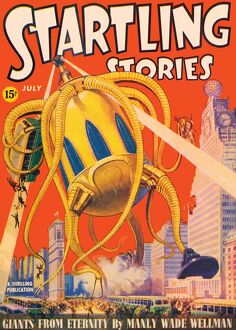 Startling Stories scifi magazine cover