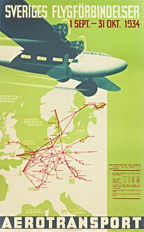 Swedish airline poster