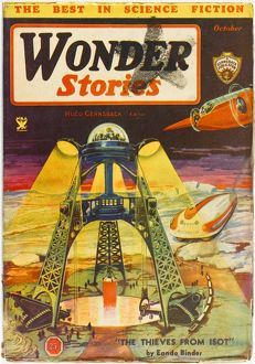 Thieves from Isot, Wonder Stories Scifi Magazine Cover